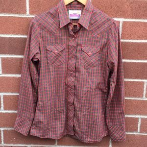 Vintage Pearl Snap Western Button Down